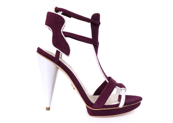 Ruby plum sandal