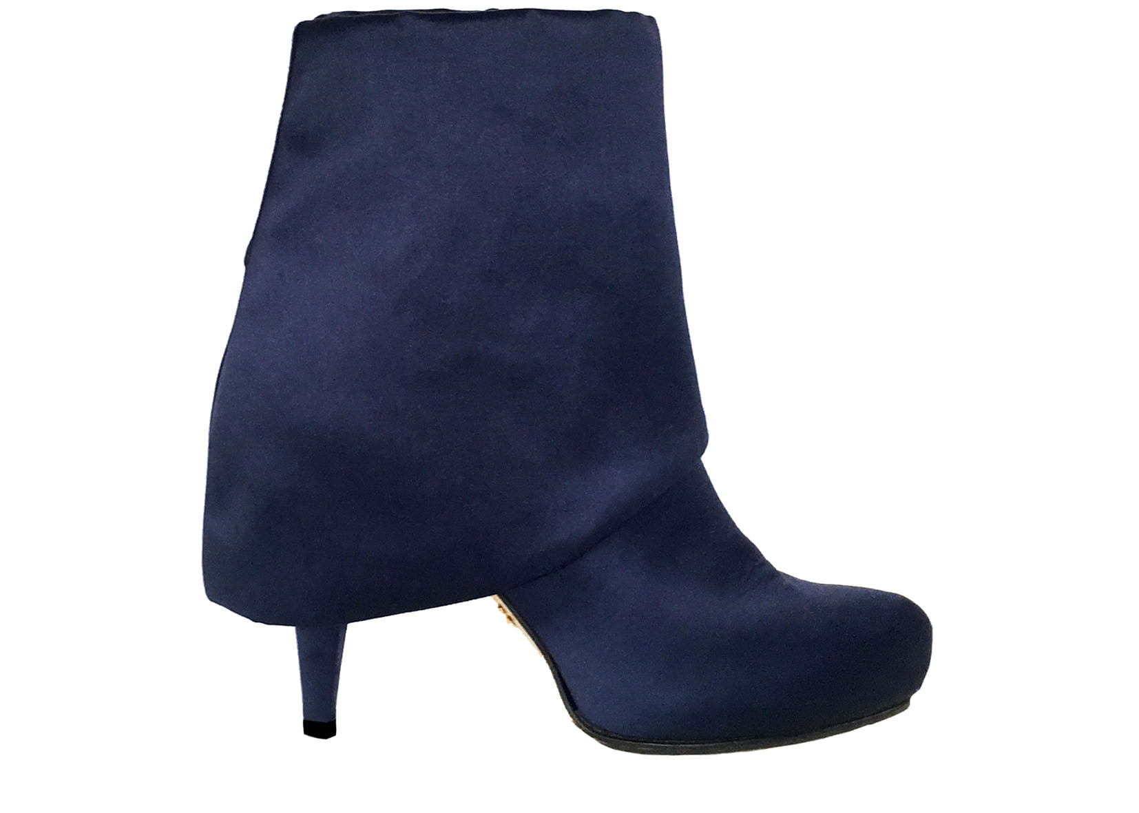 Chloe satin ankle boots, luxury vegan boots, by designer Ivana Basilotta for No One's Skin