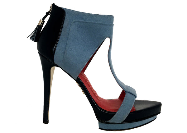 Coco vegan stone blue ankle sandle