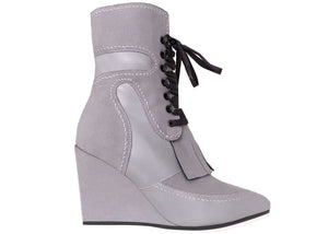 Gialetta pale grey ankle boots wedge