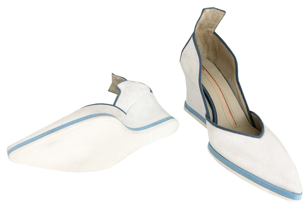 Kira White Wedge