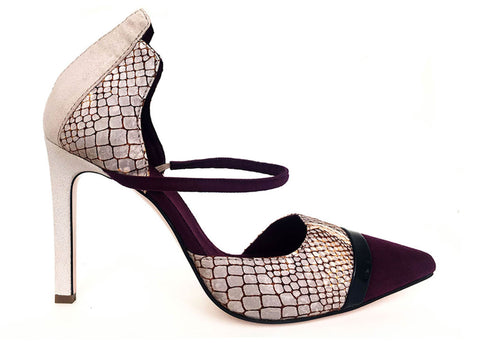 snake skin  pump, vegan pumps by Ivana Basilotta