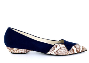 pointed snake skin ballerinas by Ivana Basilotta, No One's Skin