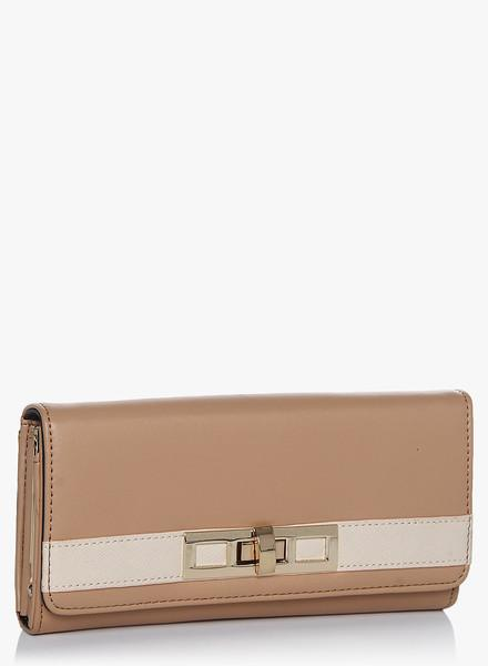 Beige Mix Dome Purse