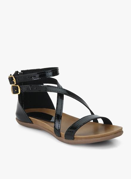 Black Buckled Sandals
