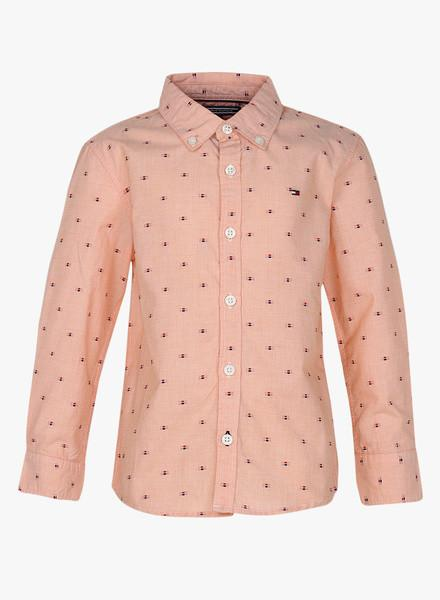 Peach Regular Fit Casual Shirt
