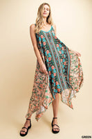 KORI Boho Detail Printed Sun Dress