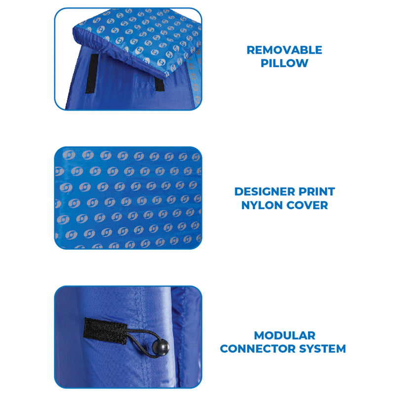 Fabric Covered Designer Mattress Floating Lounger