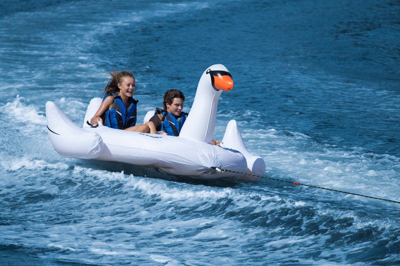 2-Person Swan Sit-In Towable