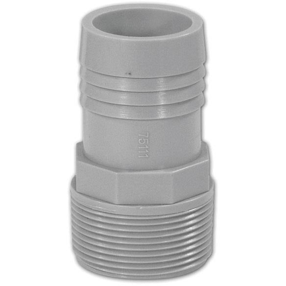 Barbed/Threaded ABS Hose Adapter 1.625""