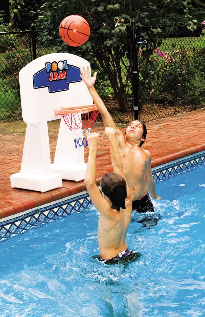 PoolJam Inground Poolside Basketball Game