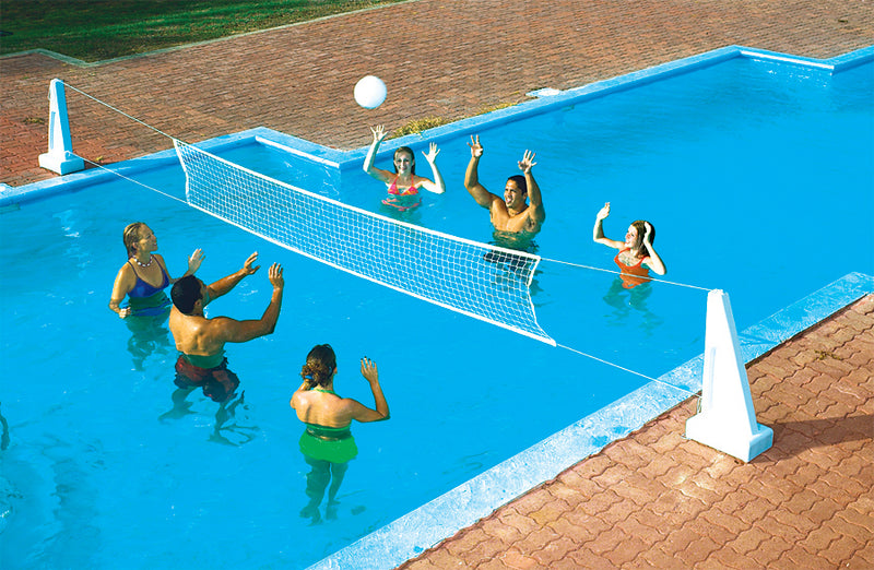 PoolJam Inground Pool Basketball & Volleyball Game Combo