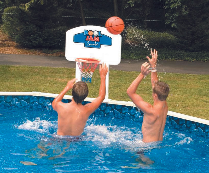 PoolJam Above Ground Pool Basketball & Volleyball Game Combo