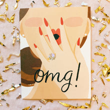 OMG Princess Cut Engagement Card