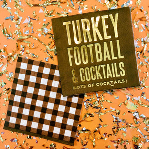 Turkey Football & Cocktails Napkins