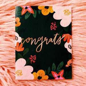Floral Botanical Congratulations Greeting Card