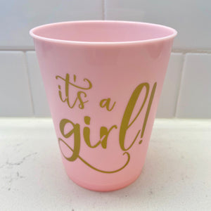 It's A Girl Cups