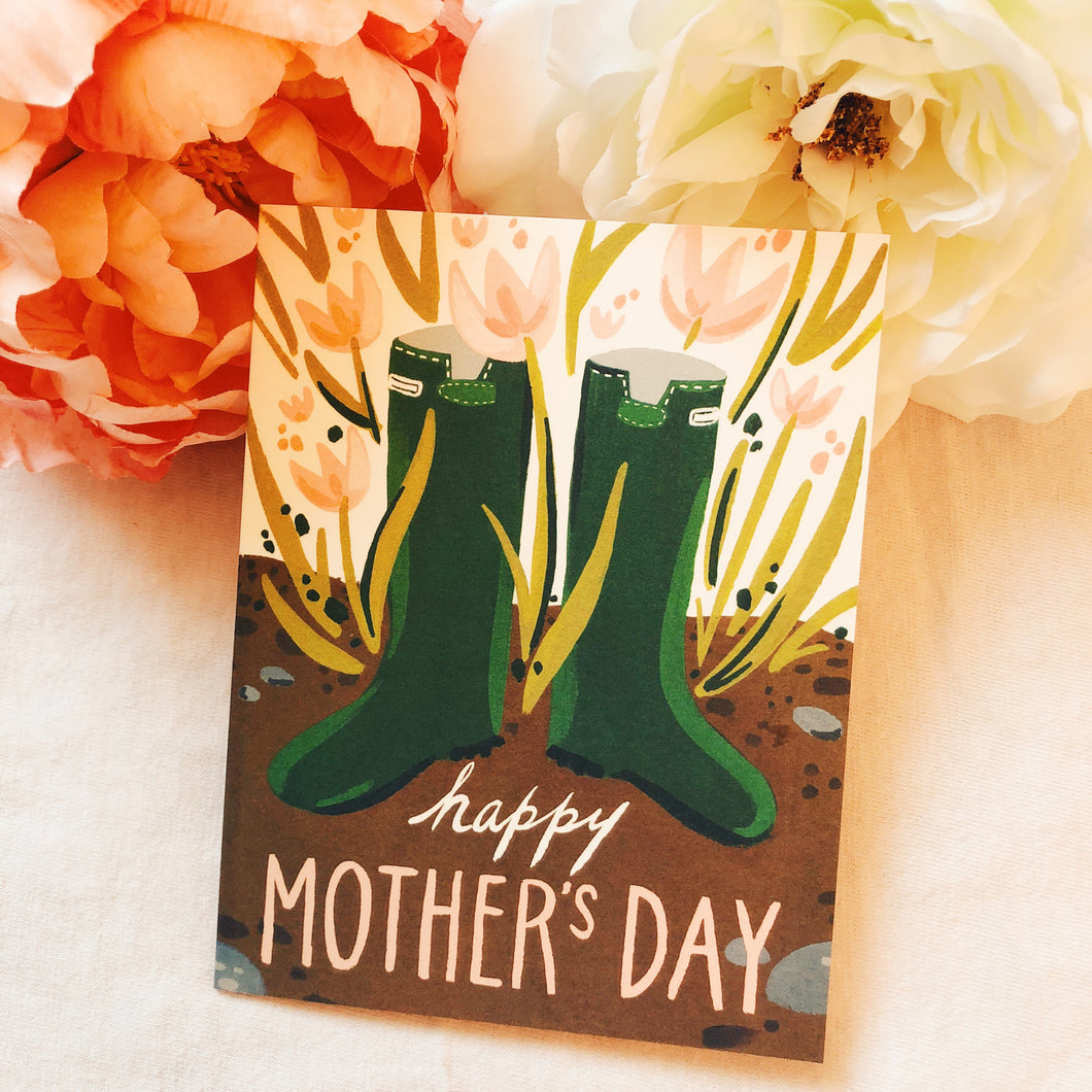 Mother's Day Wellies Card