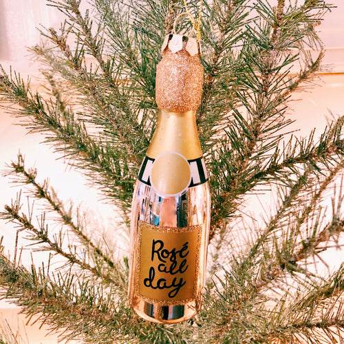 Rosé All Day Ornament