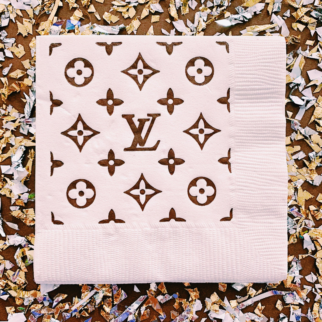 LV Cocktail Napkins