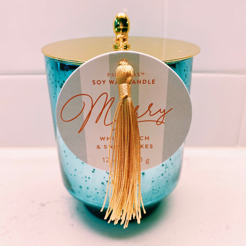 Merry - White Birch & Snowflakes Candle