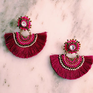 Magenta Claudine Earrings