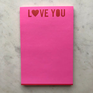 Love You Notepad