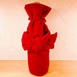 Red Velvet Wine Bag