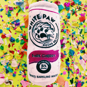 Bark Cherry White Paw Hound Seltzer Dog Toy