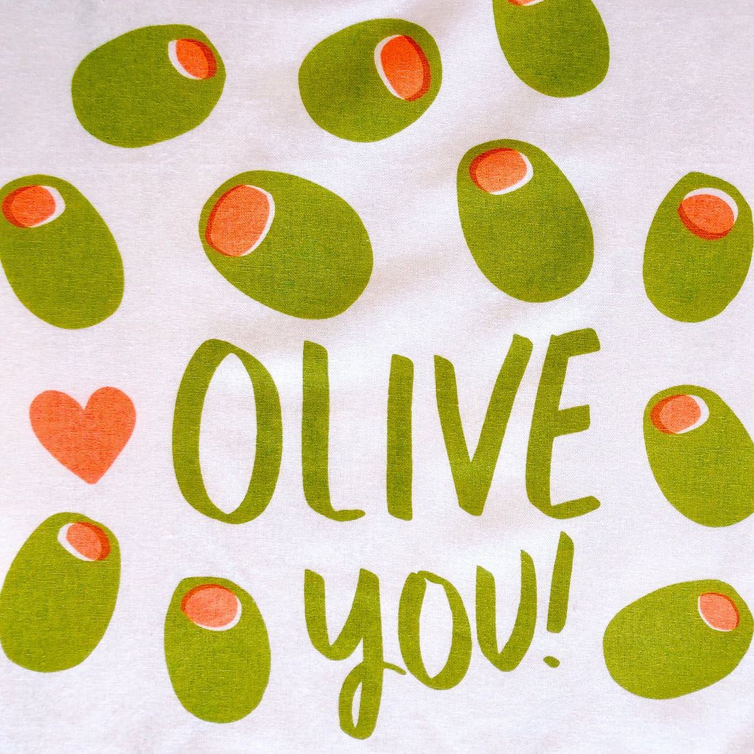 Olive You Tea Towel