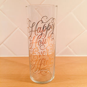 Happy Hour Ever After Highball Glass