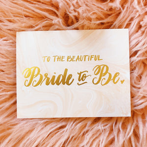 Bride To Be Marble Card