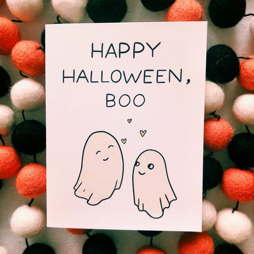 Happy Halloween, Boo Card