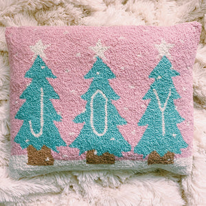 Joy Christmas Trees Pillow