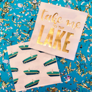 Take Me To The Lake Napkins