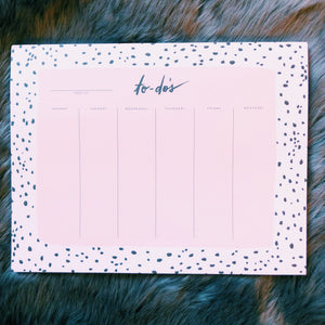 Speckled Weekly To-Do List Notepad