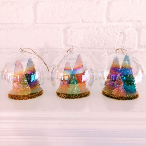 Sisal Tree Dome Ornaments Set of 3