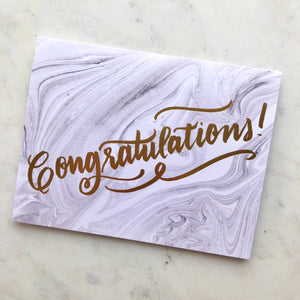 Congratulations Marble Card
