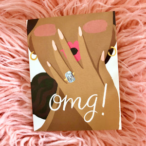 OMG Emerald Cut Engagement Card