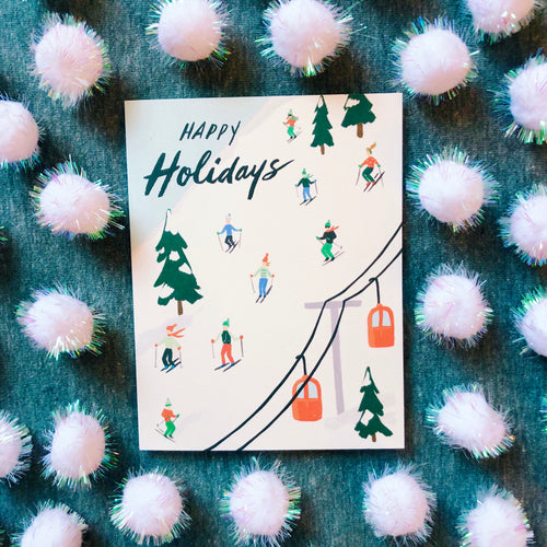 Holiday Skiers Card