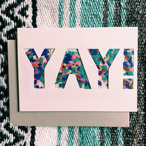 Yay Confetti Shaker Greeting Card