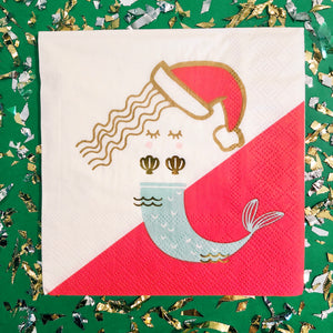 Christmas Mermaid Napkins