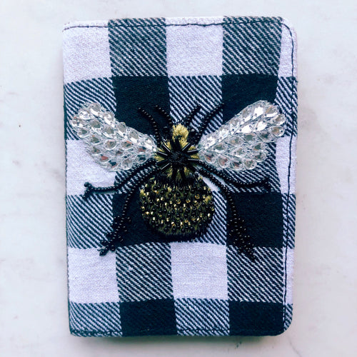 Plaid Bee Wallet/Passport Holder