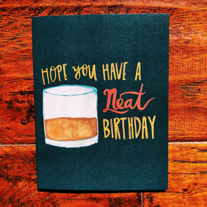 Neat Cocktail Birthday Greeting Card
