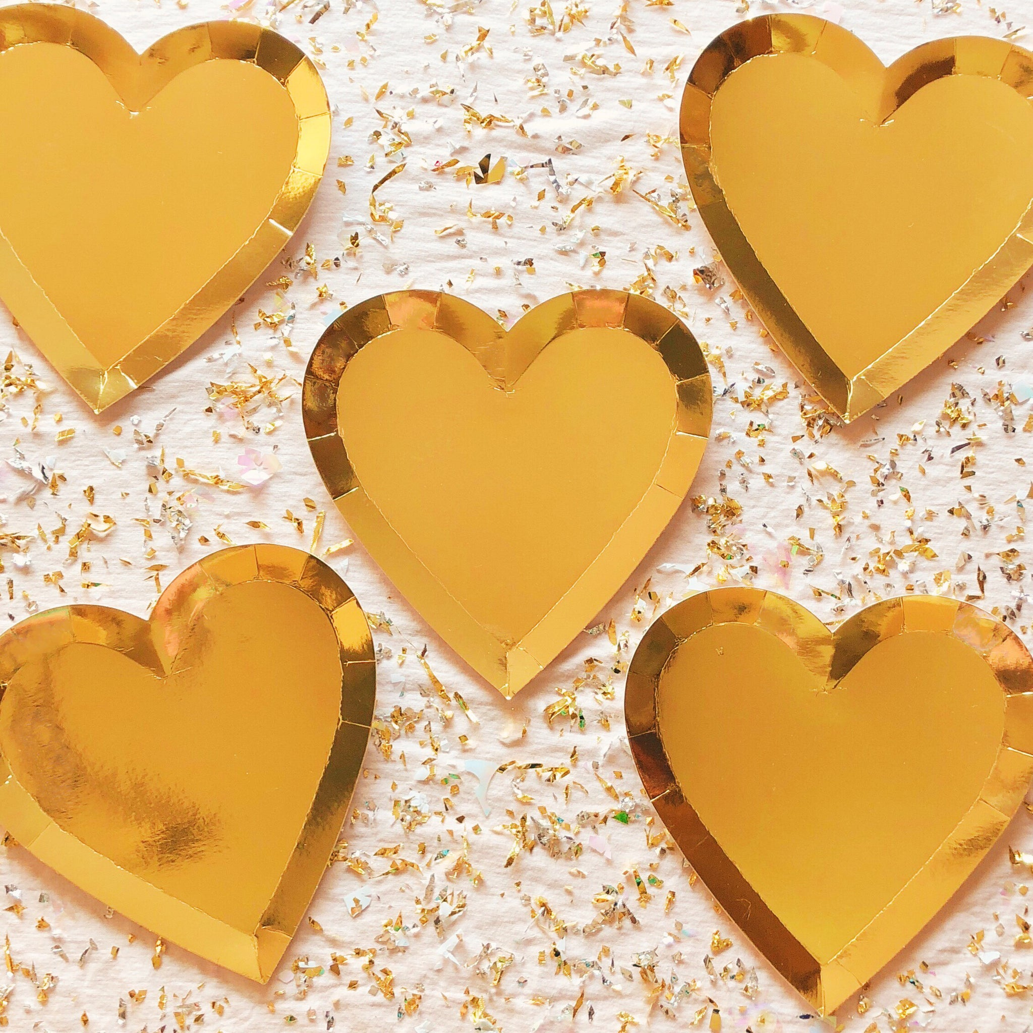 Large Gold Heart Paper Plates ...  sc 1 st  Pretty Little Things Collective & Large Gold Heart Paper Plates u2013 Pretty Little Things Collective