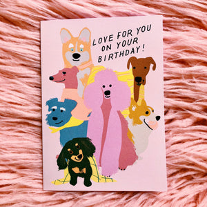 Loving Dogs Birthday Greeting Card