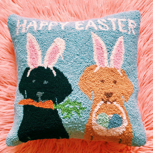 Happy Easter Labs Pillow