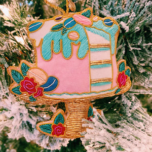 Layer Cake Parisian Holiday Ornament
