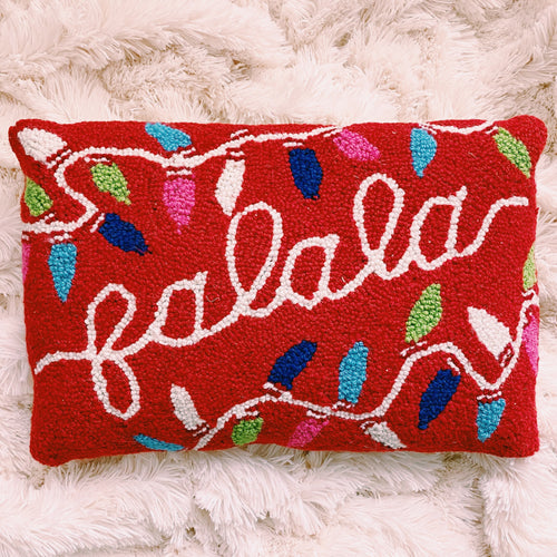 Fa La La Colorful Lights Pillow