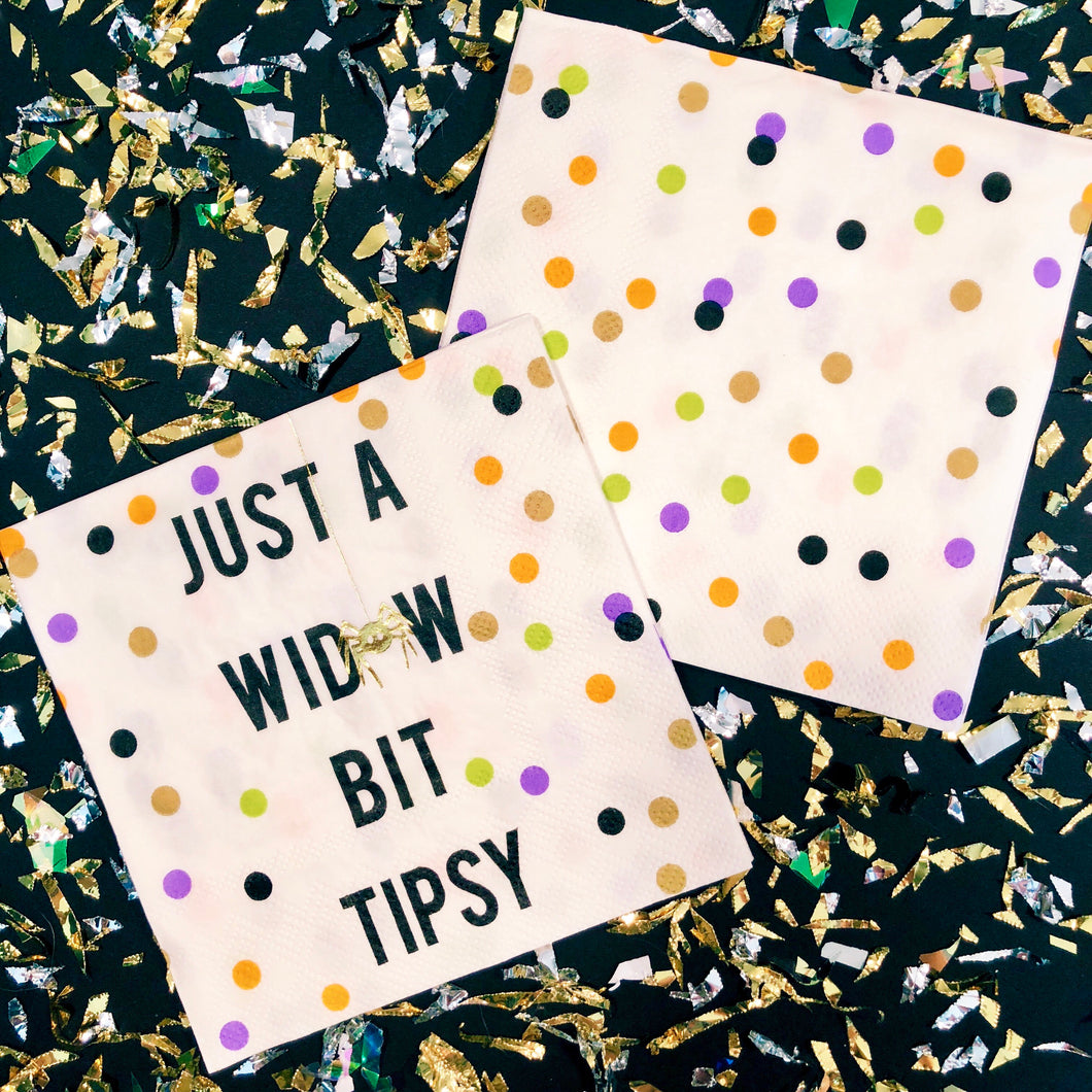 Just A Widow Bit Tipsy Napkins